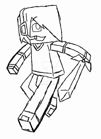 Minecraft Coloring Pages Skins Skin Drawing Sketch