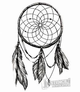 dream catcher stencil printable stencils dream catchers With dream catcher tattoo template