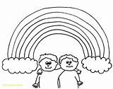 Rainbow Coloring Pages Adults Unicorn Printable Getcolorings sketch template