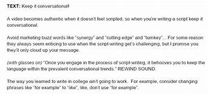 how to write a video script template video With promotional video script template