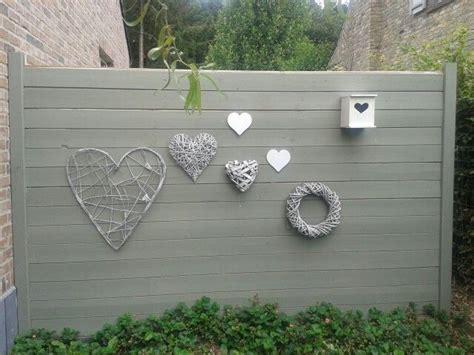 tuinmuur decoratie muur decoratie voor buiten diversen pinterest