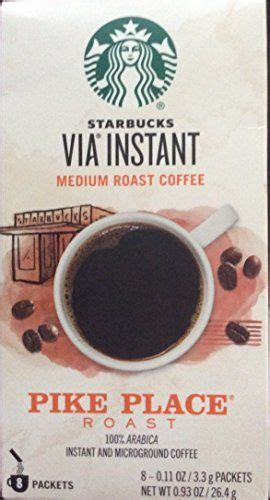 Rated 5 out of 5 by alishap42 from great flavour. Starbucks Via Instant Medium Roast Coffee Pike Place Roast 100 ARABICA 8 Packets Pack of 48011oz ...