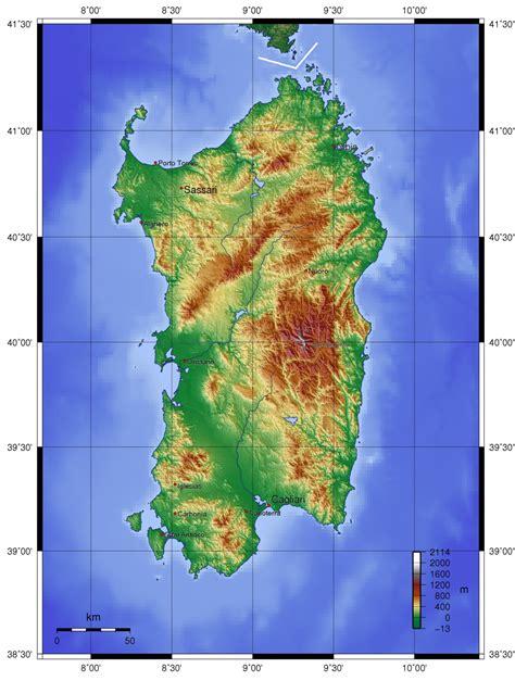 map  sardinia topographic map worldofmapsnet