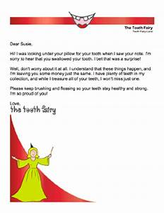 printable tooth fairy letter child swallowed tooth With tooth fairy letters for lost teeth
