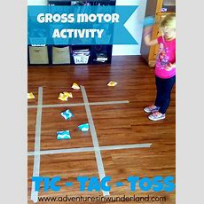 Fun Gross Motor Activity Tic  Tac  Toss  Get The Kids Moving!  Gross Motor Activities