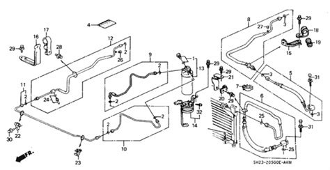 automotive air conditioning repair 1988 honda cr x transmission control oem 1990 honda crx coupe a c hoses pipes parts hondapartsonline net