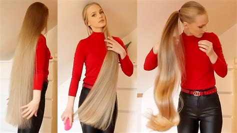 Realrapunzels Very Long Blonde Hair Preview Youtube