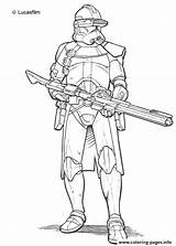 Clone Trooper Coloring Lego Wars Phase Getdrawings sketch template