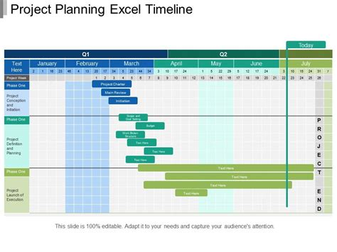 project planning excel timeline powerpoint templates