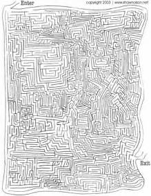 Gallery For > Difficult Maze With Solution