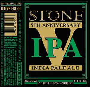 Stone 5th anniversary ipa beer street journal for 5th wedding anniversary stone