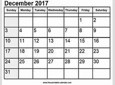 december 2017 printable calendar waterproof monthly