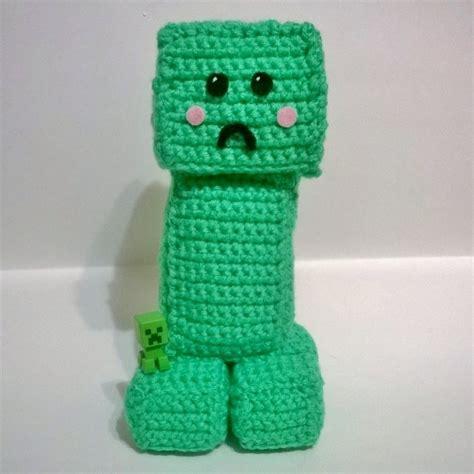 crochet minecraft creeper  computer game plushie