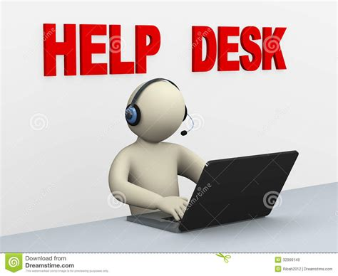 help desk support 3d with laptop help desk royalty free stock images