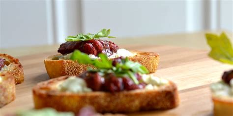 roasted balsamic strawberry goat cheese canap 232 recipe