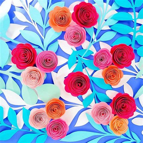 paper flower rolled rosette templates printable