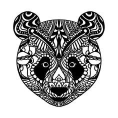 All contents are released under creative commons cc0. Zentangle Panda SVG, Mandala Panda SVG in 2020 | Zentangle ...