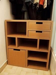 Penderie Sur Mesure : meuble en carton sous penderie ~ Zukunftsfamilie.com Idées de Décoration
