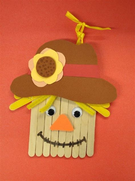 popsicle stick scarecrow pictures   images