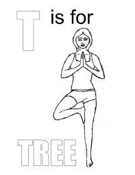 yoga color pages
