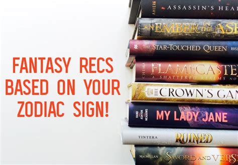 fantasy book recommendations based   zodiac sign