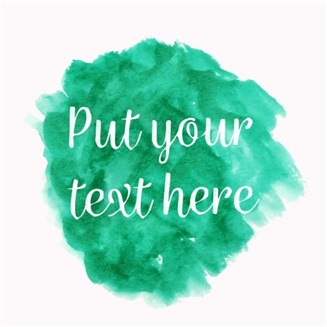 turquoise template turquoise watercolor with text template vector free download