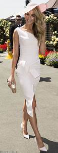 Jennifer Hawkins Ashley Hart and Racheal Finch elegant at Oaks Day | Daily Mail Online
