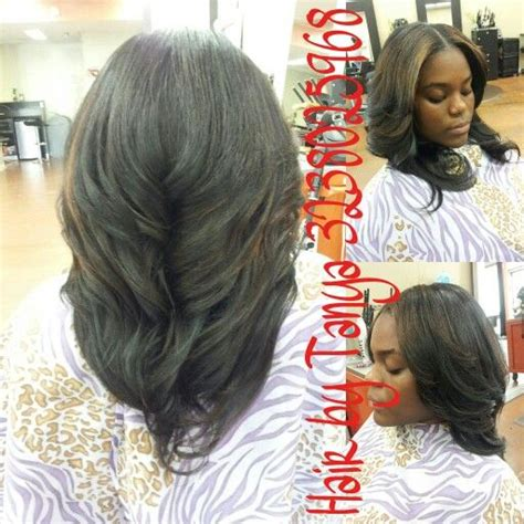 Partial Weave Sew In Hairstyles by Partial Sewed In Weave With Middle Part Partial Weaves