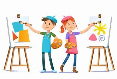 Young Skills Artists Dream Vector Character Painter