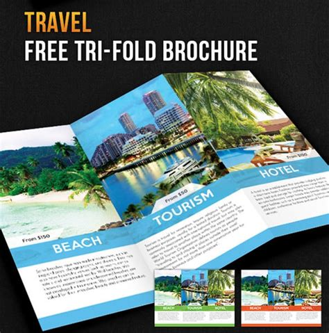 psd travel brochure design templates