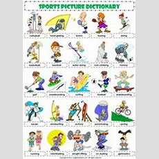 Esl Picture Dictionary Sports  Teaching The Kids Eslefl  Pinterest  Icons, Vocabulary