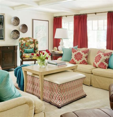 Teal Green Living Room Ideas by Red Alert How To Decorate With White And Red