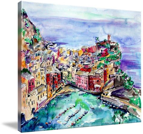 Vernazza Italy Cinque Terre Painting By Ginette By Ginette