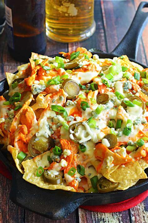 loaded buffalo chicken nachos keeprecipes