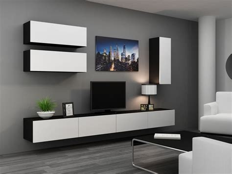 Details About High Gloss Tv Cabinet  Tv Wall Unit Tv