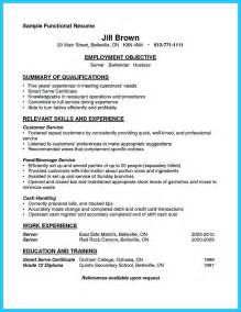 Waitress Bartender Resume Exles by Outstanding Details You Must Put In Your Awesome