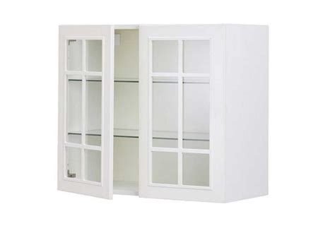 Ikea Glass Kitchen Cabinet Doors For Sale With White