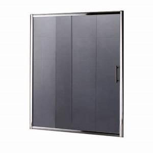 Porte de douche coulissante anthracite 160 cm keros for Porte douche keros
