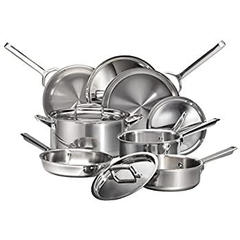 amazoncom viking tri ply  piece cookware set kitchen dining
