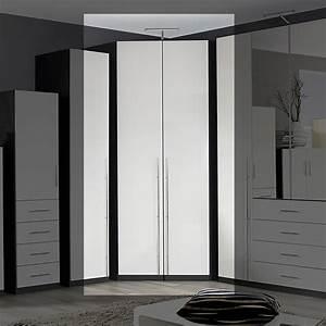 Kleiderschrank Grau Weiß : eckschrank elan schrank kleiderschrank in wei hochglanz und graphit grau 123 cm ebay ~ Markanthonyermac.com Haus und Dekorationen