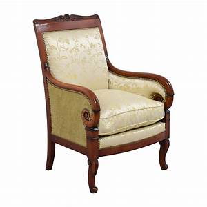 90 OFF Silk Damask Gold Upholstered Chair Chairs
