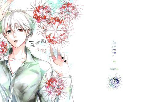 wallpaper ken kaneki white hair red eye tokyo ghoul
