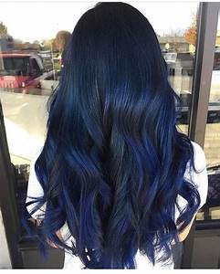 Blue Black Hair Color Ideas Best Blue Highlights In Black