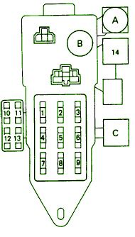 Toyota Pickup Main Fuse Box Diagram Circuit Wiring
