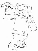 Coloring Minecraft Pages Printable Fun sketch template