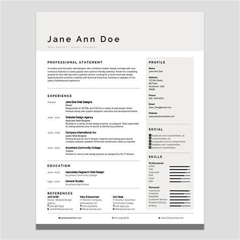 modern looking resume template personalize a modern resume template in ms word
