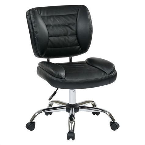 armless desk chair office st series armless task office chair in black