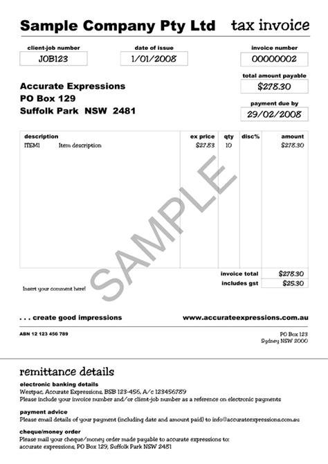 simple invoice template australia invoice
