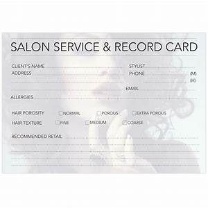 Client Record Cards Hair Beauty Ink