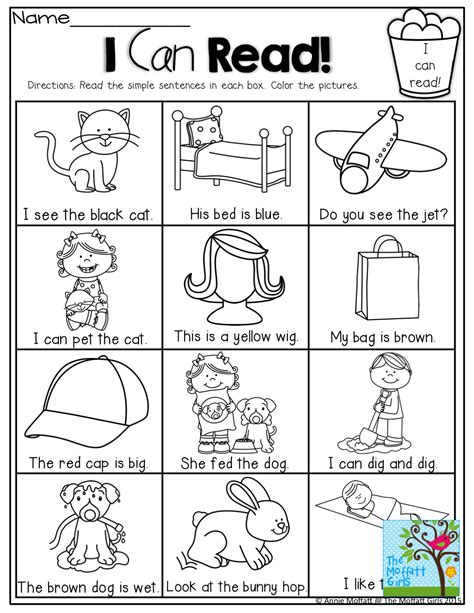 I Can Read! Simple Sentences That Kids Can Decode With Sight Words, Cvc Words And Color Words